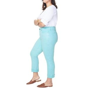 CURVES 360 BY NYDJ Slim Straight-Leg Ankle Jeans